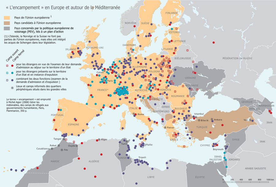 L'Europe des camps en 2009 / The Detention centres in Europe in 2009